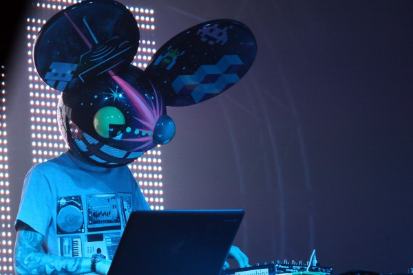 NEW YORK, NY - DECEMBER 31:  Deadmau5 (Joel Zimmerman) performs at Joonbug's Deadmau5 Unhooked New Year's Eve 2012 DJ set at Pier 36 on December 31, 2011 in New York City.  (Photo by Paul Zimmerman/Getty Images)